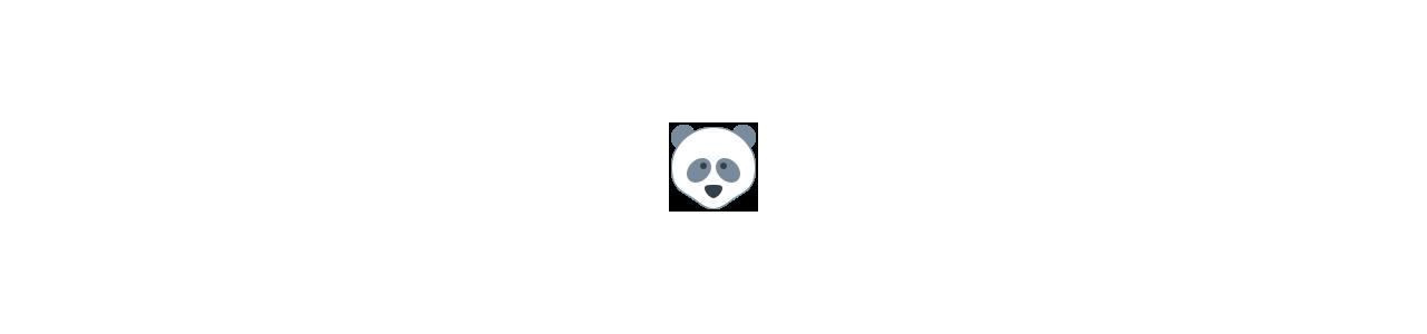 Pandas Maskottchen - Dschungeltiere -