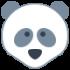 Mascota de pandas