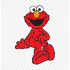 Mascotte 1 rue sesamo Elmo