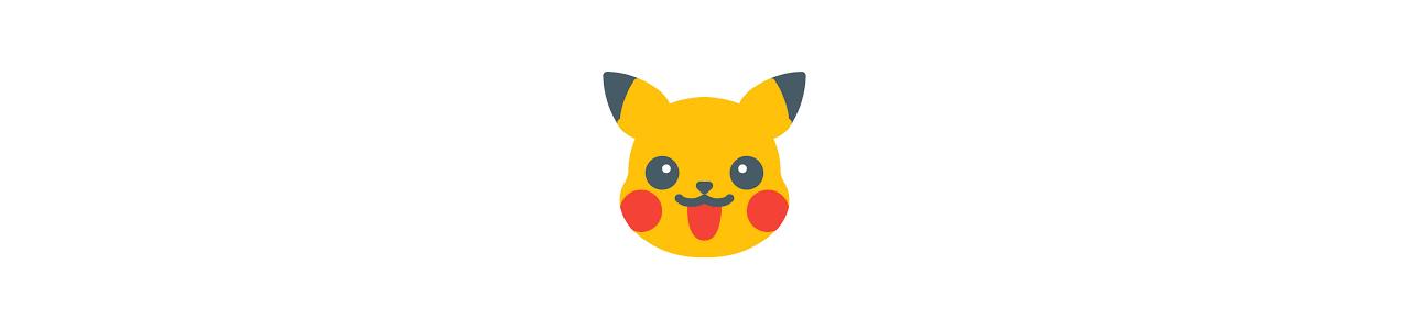 Pokémon-mascottes - Mascottes van beroemde