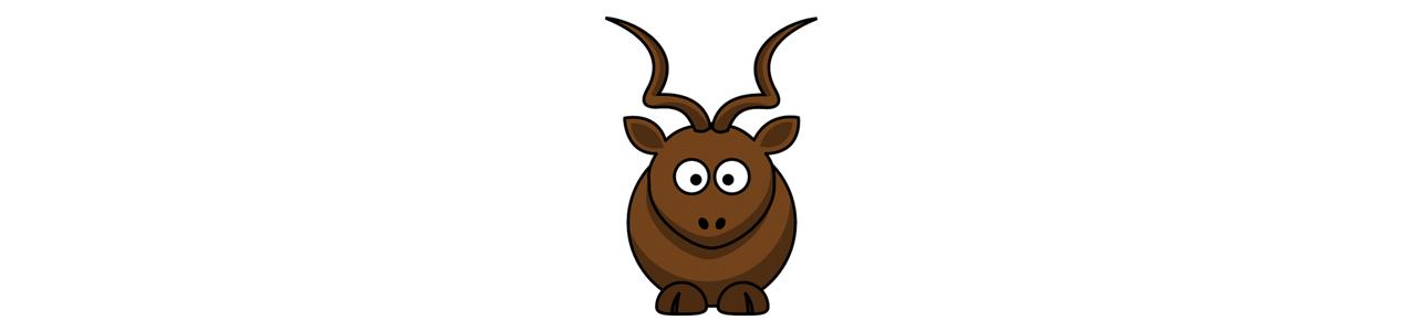 Hirvi- ja naaraspuoliset maskotit - Metsäeläimet