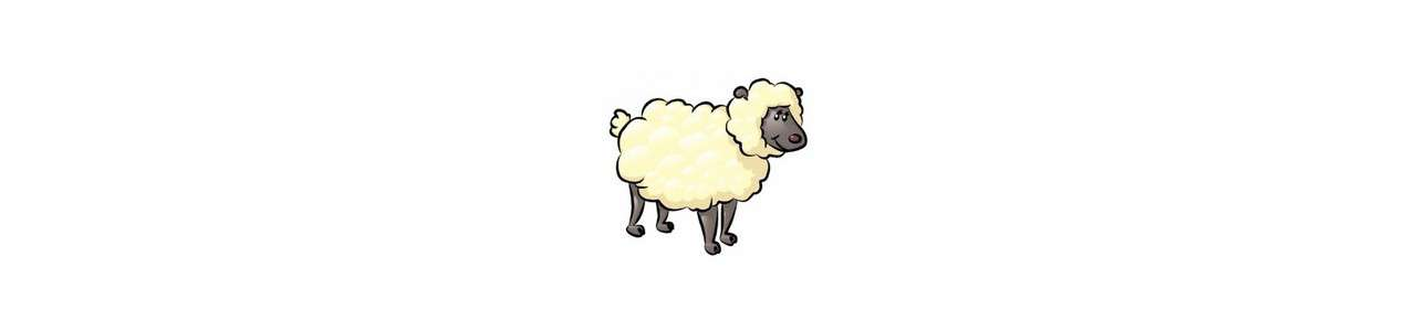 Schaf-Maskottchen - Nutztiere -