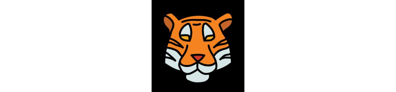 Tiger Maskottchen - Dschungeltiere -