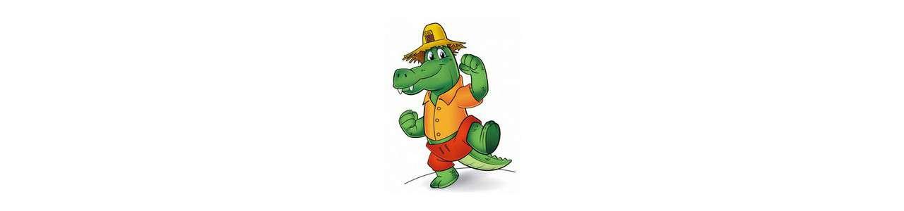 Krokodilmaskottchen - Maskottchen des Ozeans -