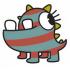 海の怪物のマスコット
