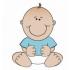 赤ちゃんのマスコット