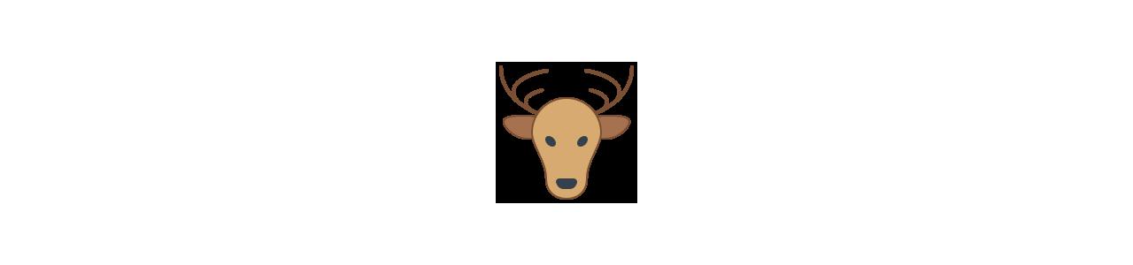 Metsäeläimet - Eläinten maskotteja -
