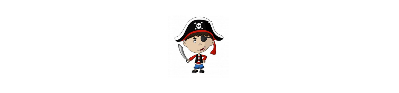 Pirates maskotter - Menneskelige maskotter -