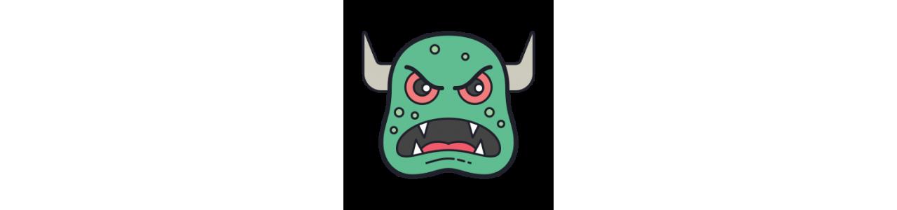 Monstermaskottchen - Klassische Maskottchen -