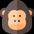 Gorilla-Maskottchen