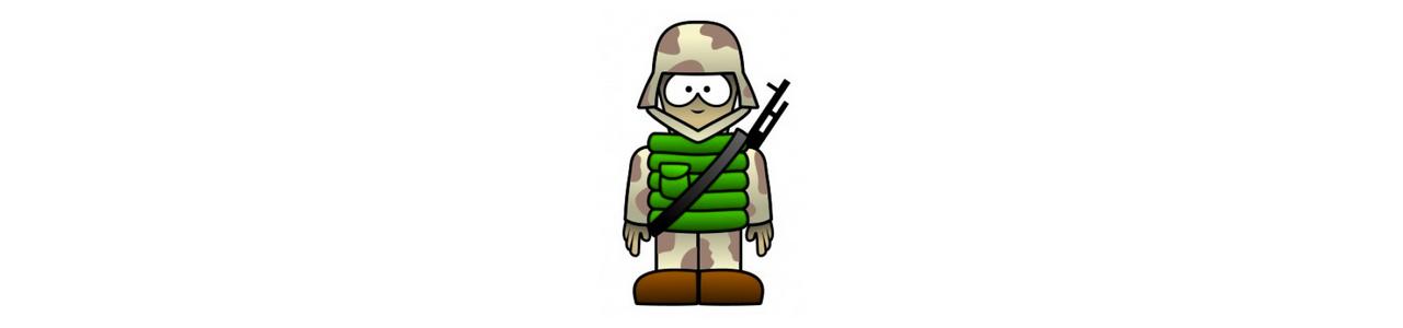 Soldaten Maskottchen - Menschliche Maskottchen -