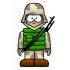 兵士のマスコット