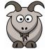 ヤギとヤギのマスコット
