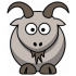 Ziegen und Ziegenmaskottchen