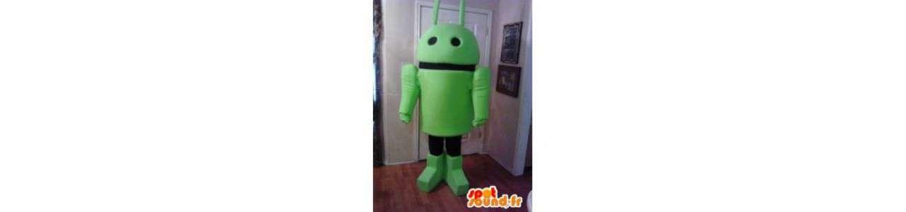 Roboter Maskottchen - Objektmaskottchen -