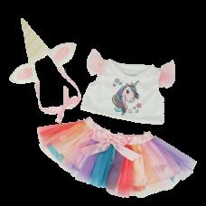 Bonnet avec des cornes, pull et jupe licorne
