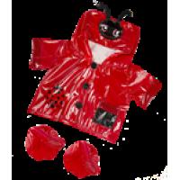 Ciré rouge avec une tête de coccinelle