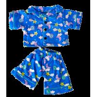 Pyjama bleu avec des motifs