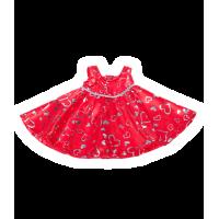 Robe rouge avec des petits cœurs