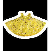 Jolie robe jaune avec des cœurs