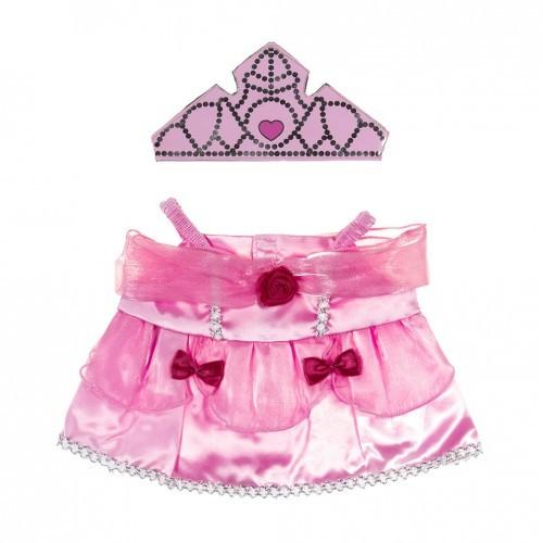 Tenue de princesse rose avec une couronne