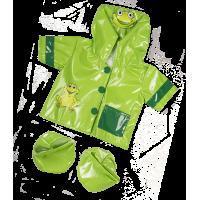 Ciré vert avec une tête de grenouille