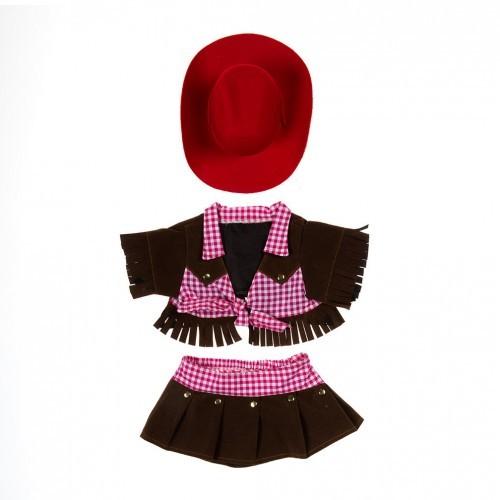 Tenue de cow-girl à franges avec un chapeau