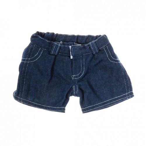 Short en jean de couleur bleue