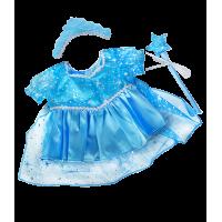 Robe à paillettes, baguette magique et couronne