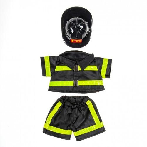 Tenue de pompier noire avec un casque