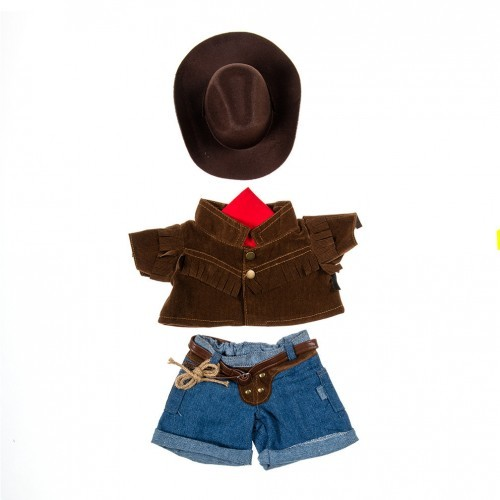 Tenue de cow-boy, short, gilet et chapeau
