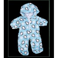 Grenouillère bleue avec motifs pingouin