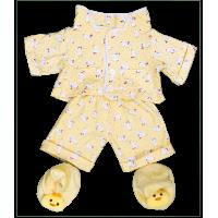 Pyjama jaune avec chaussons canards
