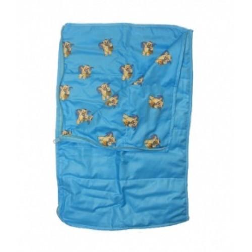 Duvet bleu à motifs. Couverture bleue