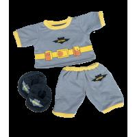 Tenue Batboy grise avec chauve-souris