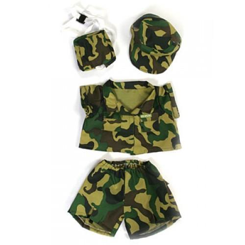 T-shirt, short et casquette de l'armée