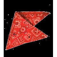 Bandana rouge à motifs blancs et noirs