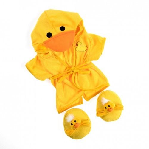 Peignoir avec capuche et chaussons canards