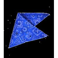 Bandana bleu avec des motifs noirs et blancs