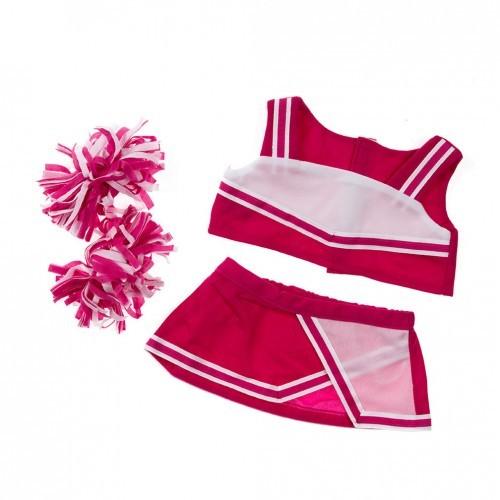 Tenue de pompom girl rose et blanche