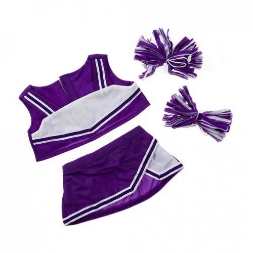 Tenue de pompom girl violette et blanche