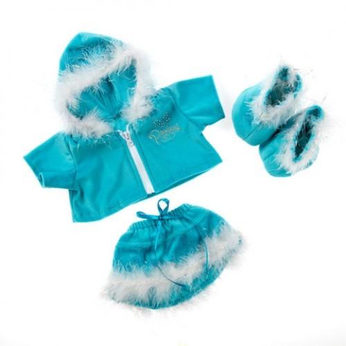 Tenue de Noël complète, bleue et blanche