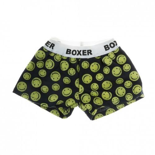 Boxer noir et jaune avec des smileys
