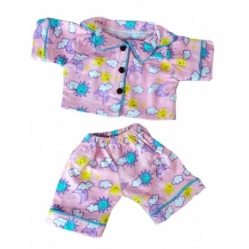 Pyjama rose avec des motifs colorés