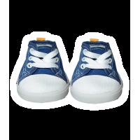 Paire de chaussures Converse bleue et blanche