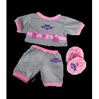 Pyjama Batgirl gris et rose avec des chaussons