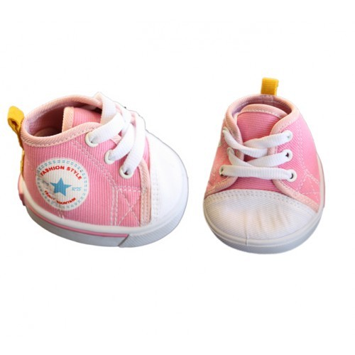 Chaussures Converse roses et blanches