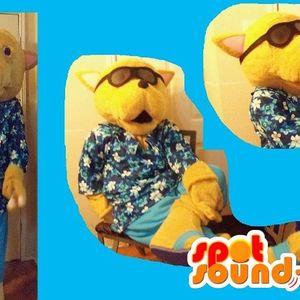 Mascotte du jour chez SPOTSOUND: Mascotte chien en vacances en chemise hawaïenne tongs et lunettes . Découvrez les mascottes @spotsound_mascots #mascotte #mascottes #marketing #costume #spotsound #personalisé #streetmarketing #guerillamarketing #publicité . Lien: https://www.spotsound.fr/fr/2681-mascotte-chien-en-vacances-en-chemise-hawaïenne-tongs-et-lunettes.html